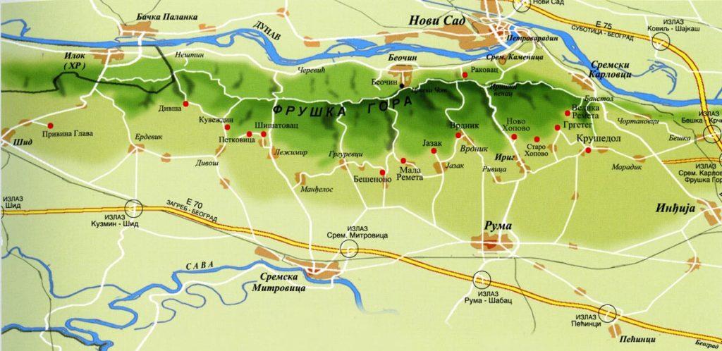 Карта Фрушка Гора