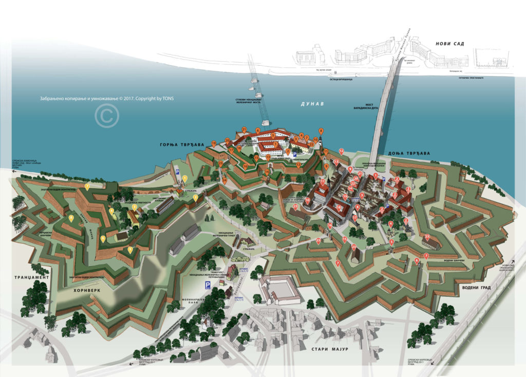 Схема крепости Петроварадин
